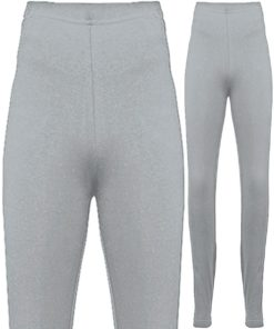 American Apparel Womens Cotton Spandex Heather Grey Jersey Leggings