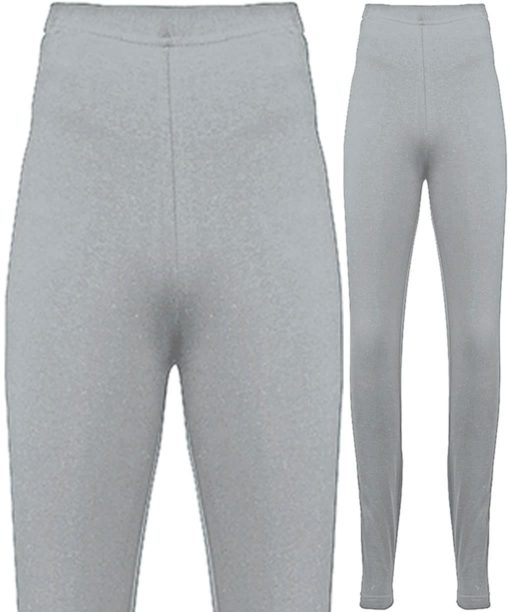American Apparel Womens Cotton Spandex Heather Grey Jersey Leggings