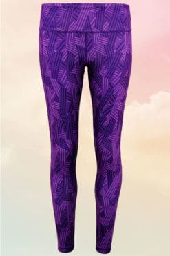 Crossed Lines Purple Leggings