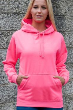 Funky Neon Pink Hoodie Model