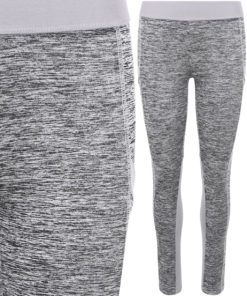 Girlie Cool Dynamic Grey Melange Leggings by AWDis Just Cool