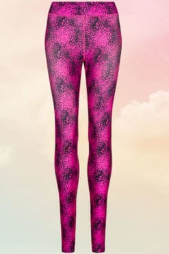 Girlie Cool Printed Speckled Pink Leggings