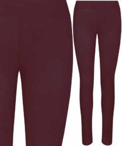 Girlie Cool Workout Burgundy Leggings by AWDis Just Cool