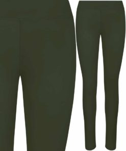 Girlie Cool Workout Combat Green Leggings by AWDis Just Cool