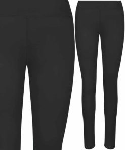 Girlie Cool Workout Jet Black Leggings by AWDis Just Cool