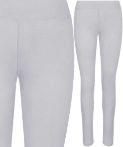 Girlie Cool Workout Silver Grey Leggings by AWDis Just Cool