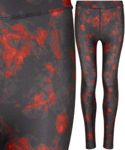 Girlie Red Haze Printed Legging by AWDis Just Cool