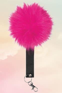Hot Pink Pom Pom Keyring