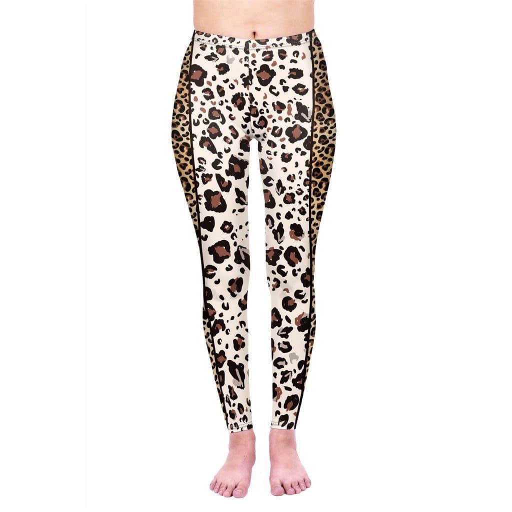 Leopard Gold Stripes Leggings