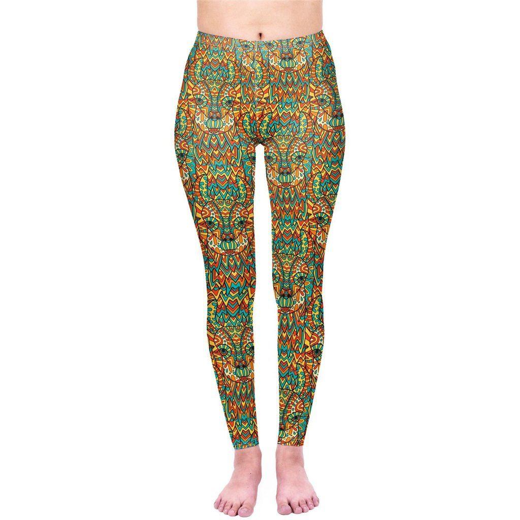 Mandala Llama Printed Leggings