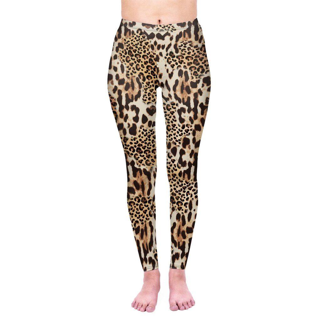 Mix Leopard Print Leggings