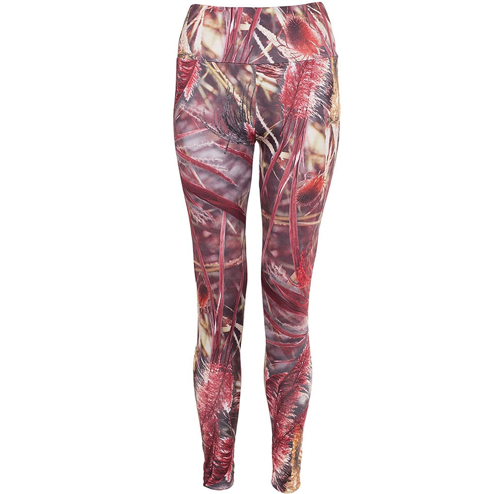 Pampas Grass Red Leggings