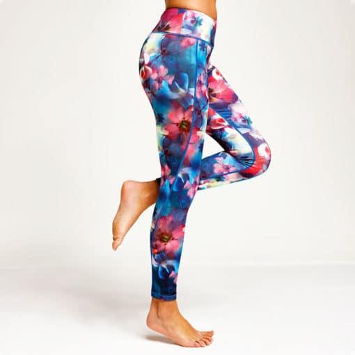 Performance Flower Leggings Front Side