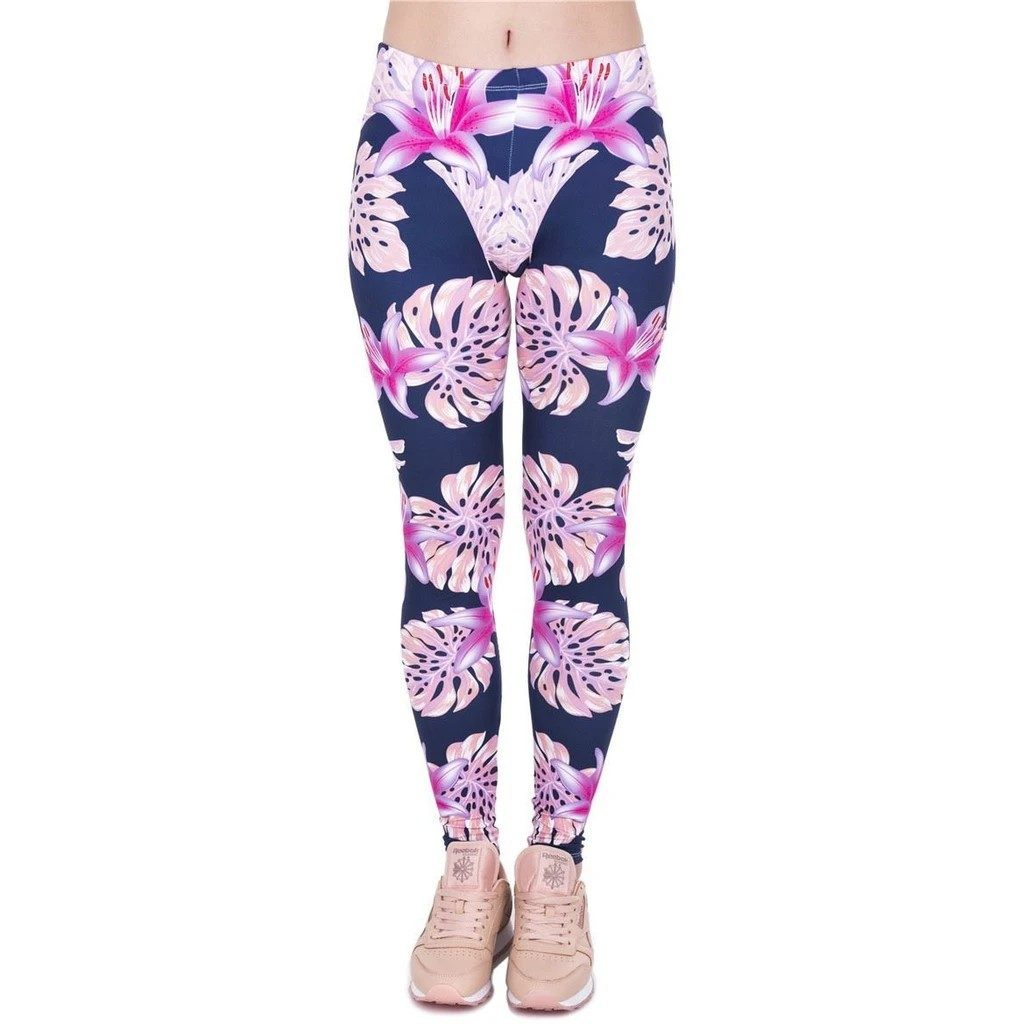 Pink Vegetation Leggings