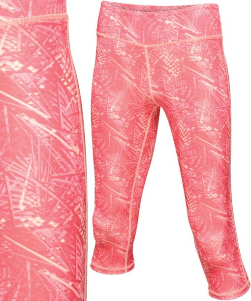 Regatta Womens Pincha Hot Pink Print Three Quarter Leggings