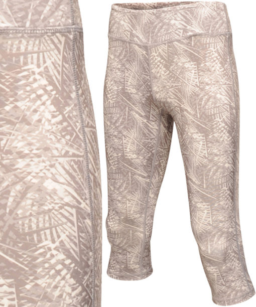 Regatta Womens Pincha Rock Grey Print Three Quarter Leggings