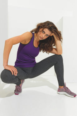 Womens ActiveLife Knitted Charcoal Gym Leggings Side