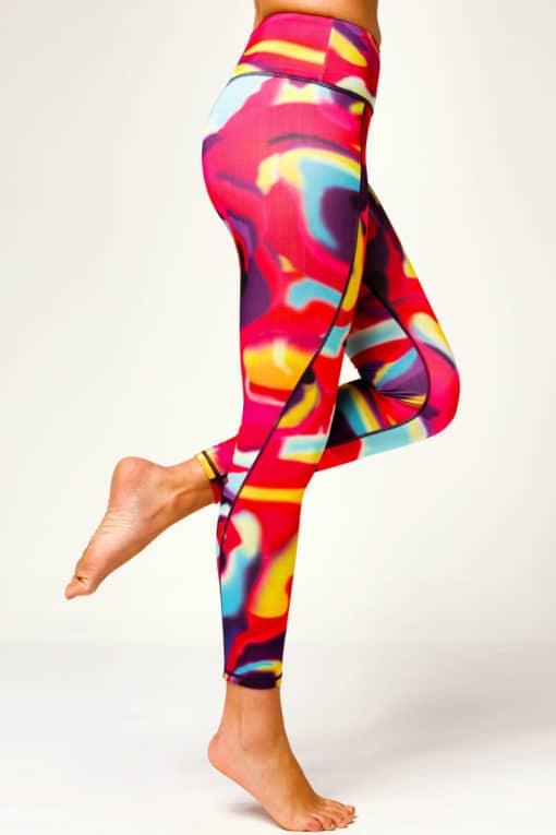Womens Aurora Funky Gym Leggings Side