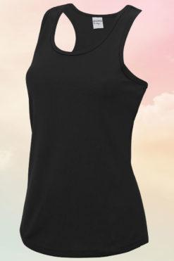 Womens Black Cool Vest