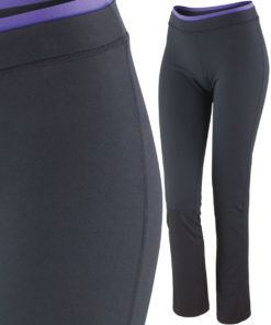 Womens Black Lavender Fitness Trousers