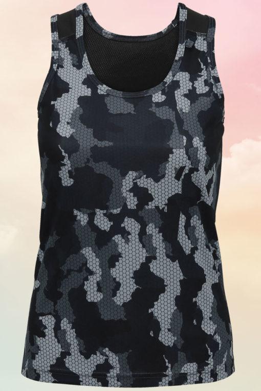 Women's Camo Charcoal Performance Vest