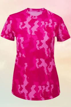 Womens Camo Hot Pink Performance T-Shirt