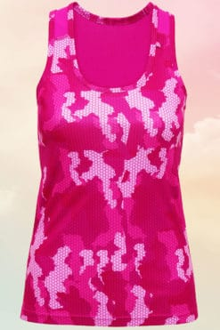 Womens Camo Hot Pink Performance Vest