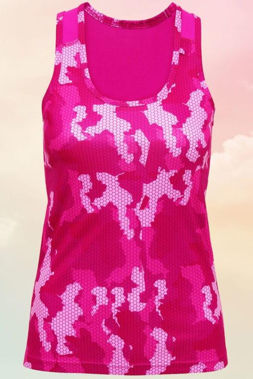 Womens Camo Hot Pink Performance Vest