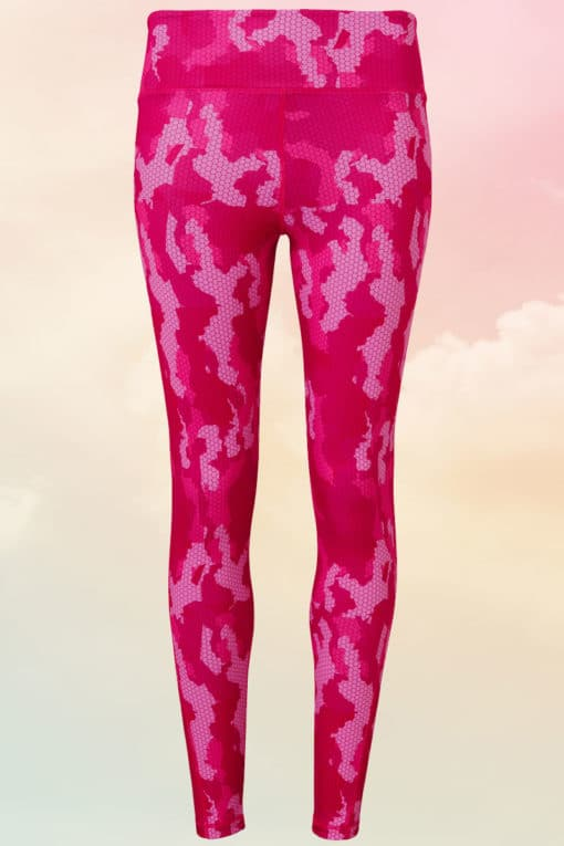 Womens Camo Performance Hot Pink Leggings