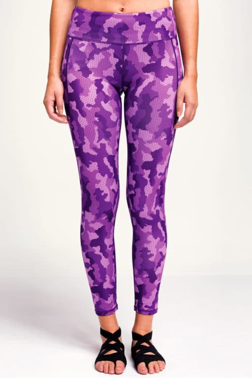 Women's Camo Purple Funky Gym Leggings