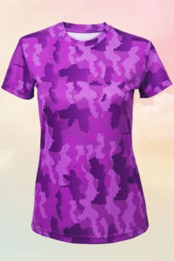 Womens Camo Purple Performance T-Shirt