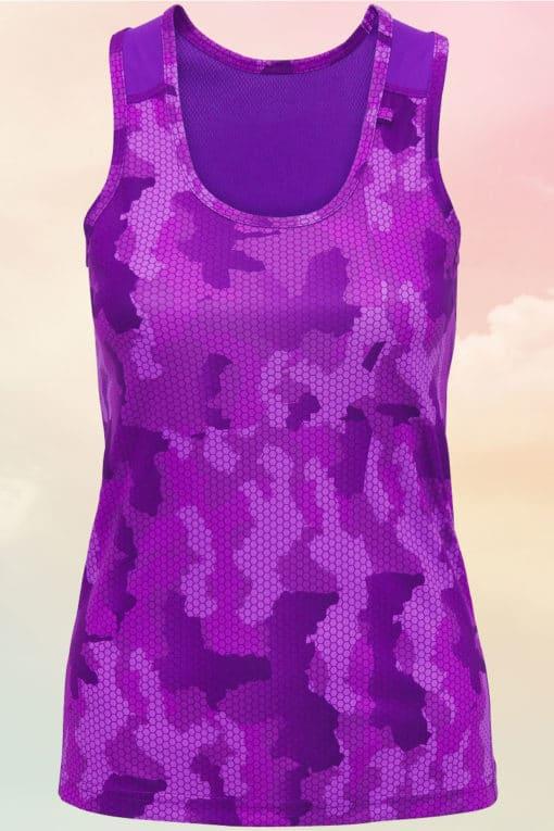 Womens Camo Purple Performance Vest