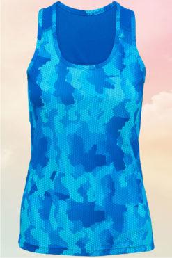 Womens Camo Sapphire Performance Vest