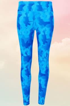 Womens Camohex Performance Blue Sapphire Leggings