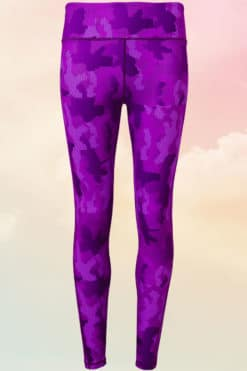 Women's Camohex Purple Performance Leggings