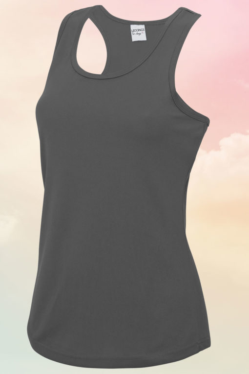 Womens Charcoal Cool Vest