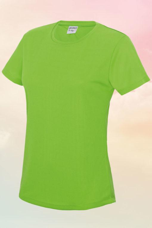 Womens Cool Electric Green T-Shirt