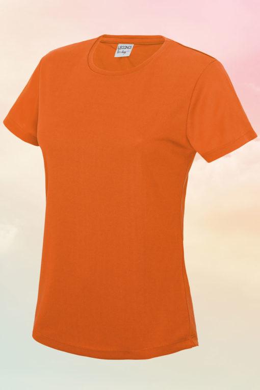 Womens Cool Electric Orange T-Shirt