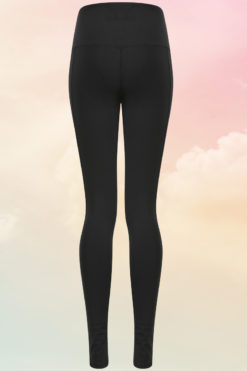 Womens Core Black Gym Leggings Back