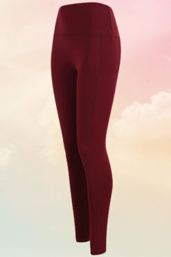 Womens Core Burgundy Gym Leggings