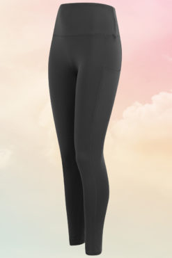 Womens Core Charcoal Grey Gym Leggings