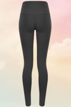 Womens Core Charcoal Grey Gym Leggings Back