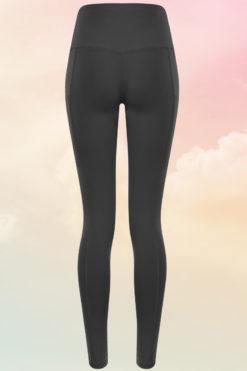 Womens Core Charcoal Grey Gym Leggings Back