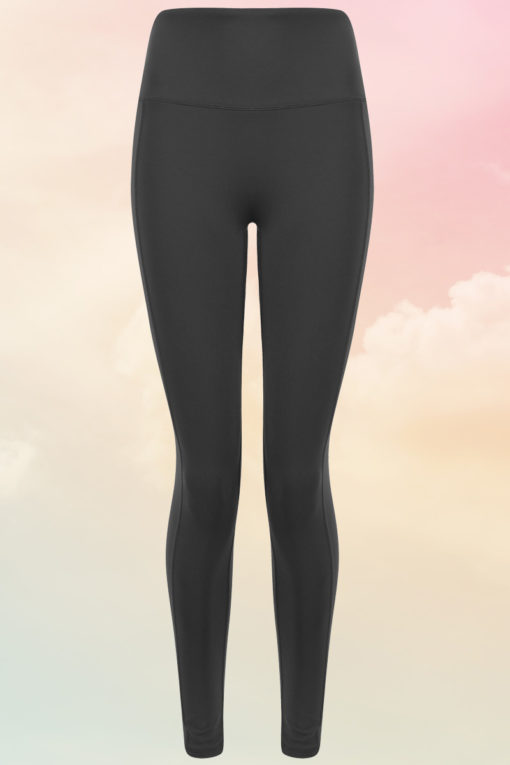 Womens Core Charcoal Grey Gym Leggings Front