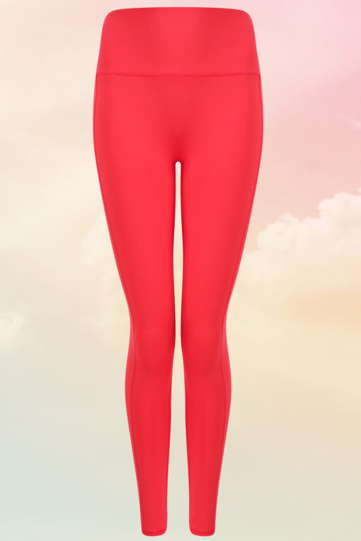 Womens Core Hot Coral Gym Leggings Front