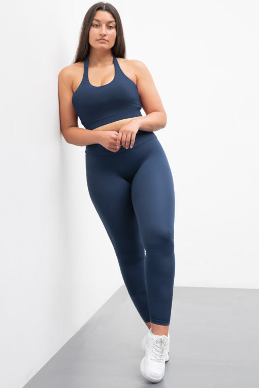 Womens Core Navy Gym Leggings Activewear