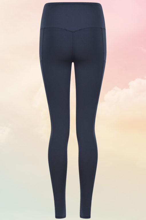 Womens Core Navy Gym Leggings Back