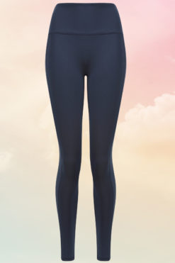 Womens Core Navy Gym Leggings Front