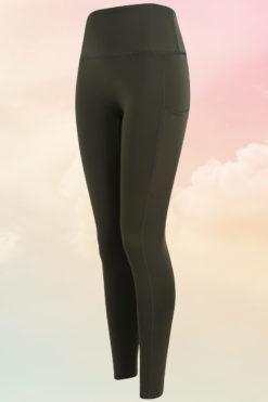 Womens Core Olive Green Gym Leggings