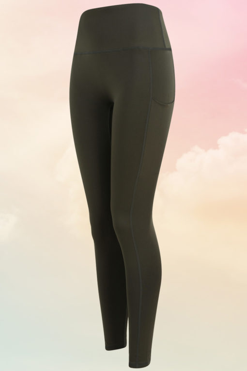 Womens Core Olive Green Gym Leggings